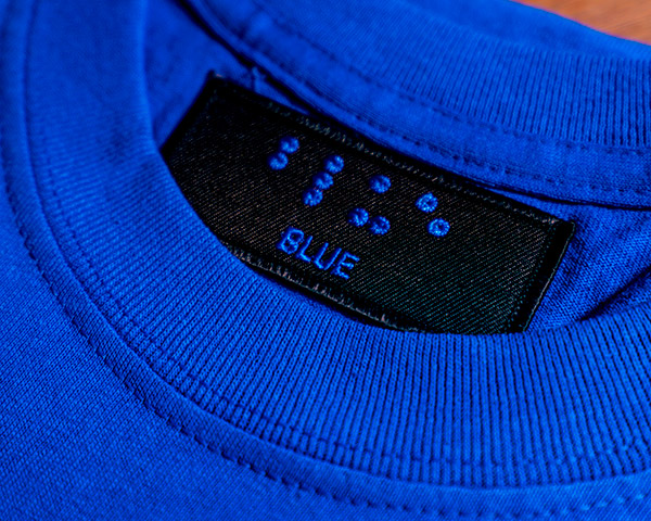 Embroidered Tag – Blue