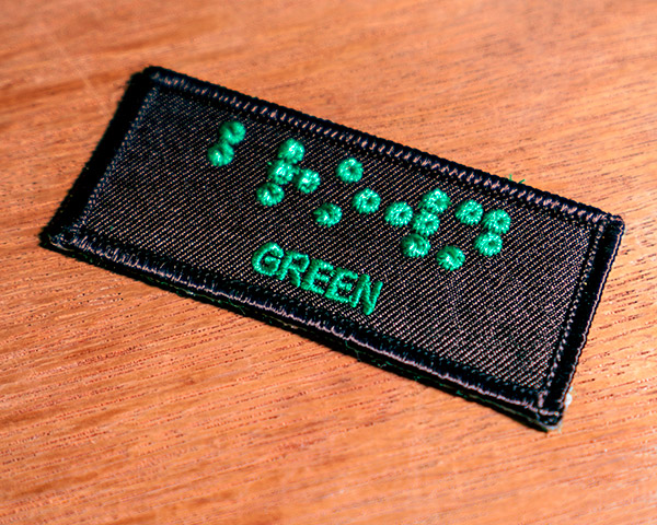 Embroidered Tag – Green