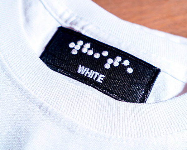 Embroidered Tag – White
